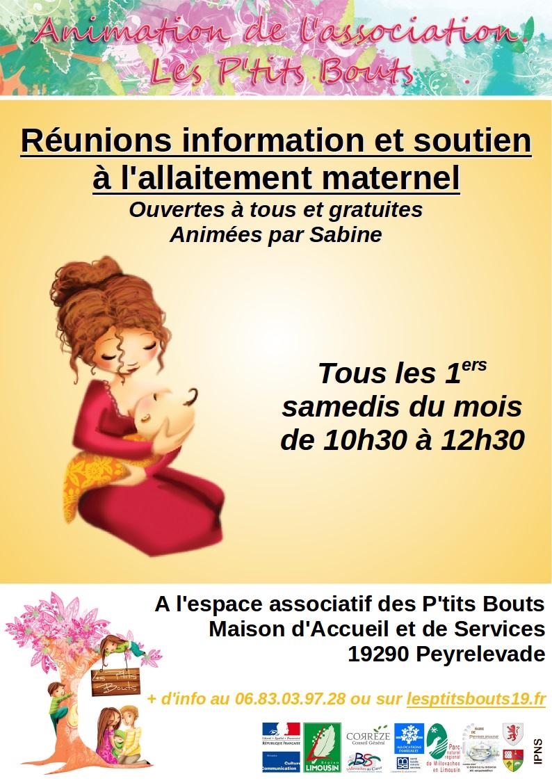 Informations et soutien à l'allaitement maternel @ Peyrelevade | Gatineau | Québec | Canada