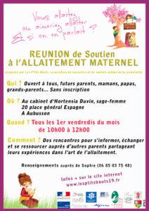 Reunion de soutien à l'allaitement AUBUSSON @ chez hortensia duvin | Aubusson | Nouvelle-Aquitaine | France